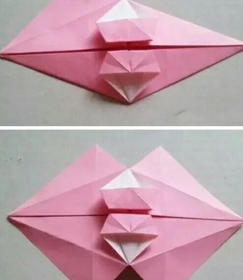 漂亮的立体小雨伞折纸图解,留着以后教给孩子吧