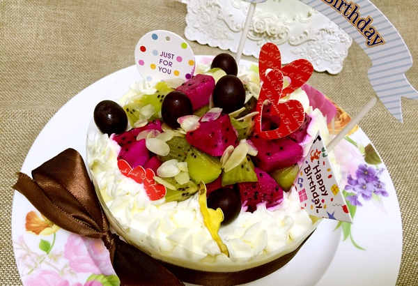 给爸爸做的生日蛋糕
