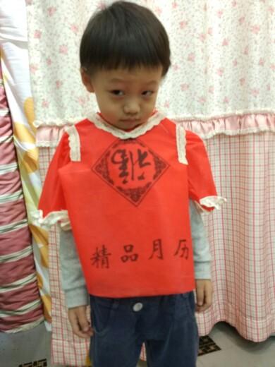 幼儿园作业,环保袋做衣服