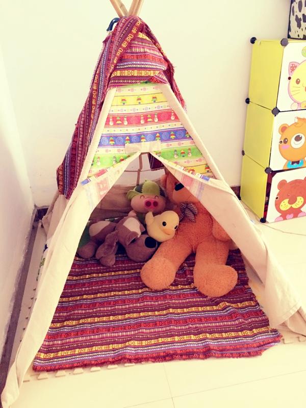 手工制作儿童印第安帐篷