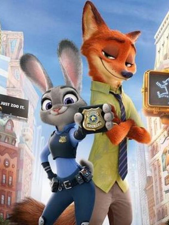 主角是一只狐狸&兔子(尼克&朱迪)图片