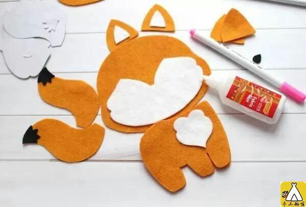 可爱狐狸不织布教程