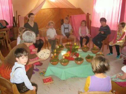 女儿在德国华德福幼儿园过复活节_海外生活讨