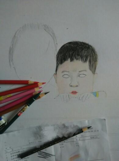 宝宝彩铅画_手绘工坊