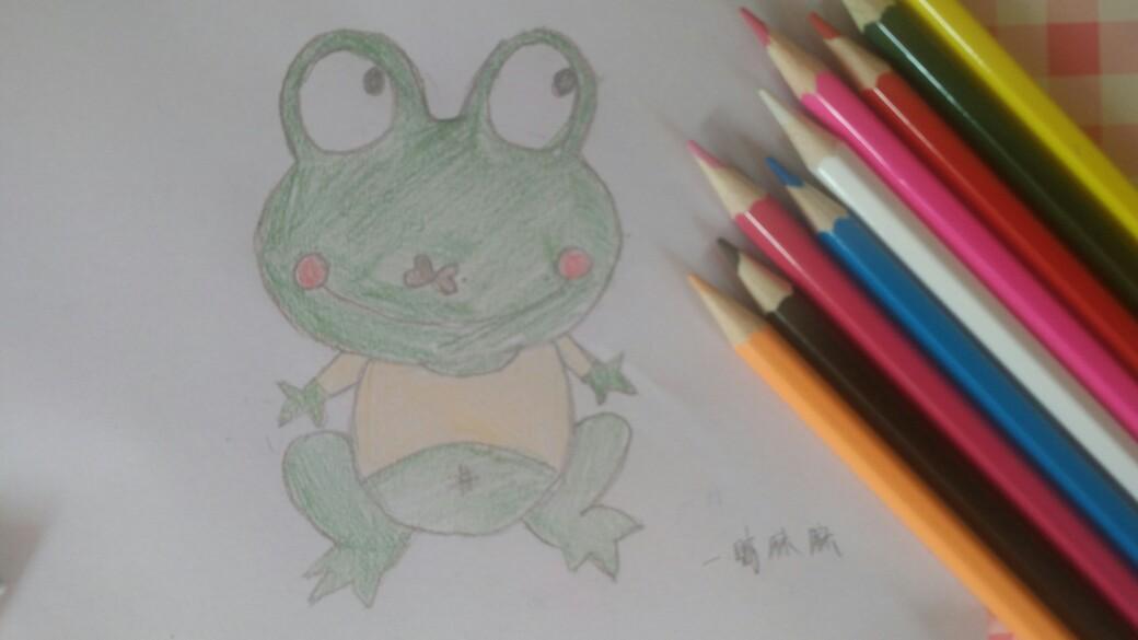 简笔画处女作,这个夏天来画只大眼青蛙吧