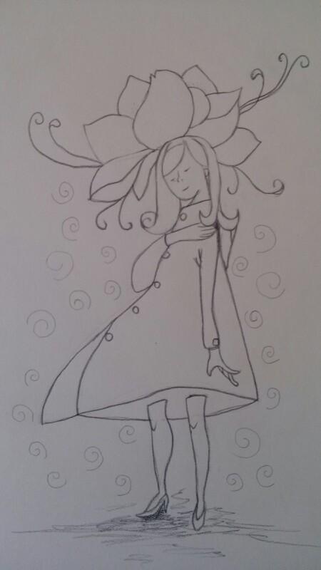 简笔画之花仙子图片