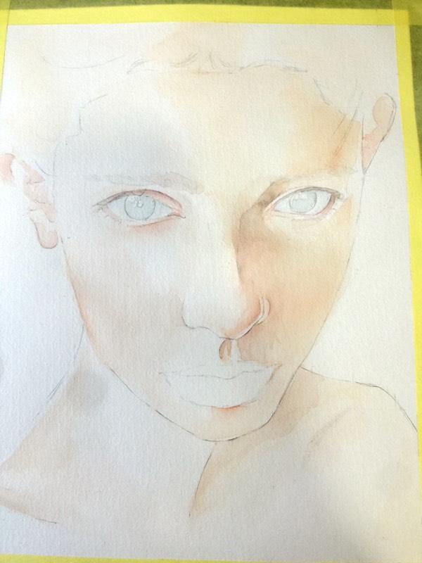 水彩手绘~人物篇,头像