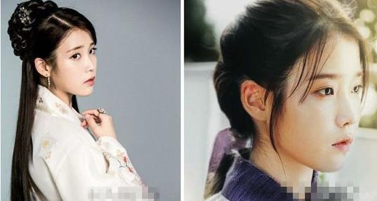 发髻盘发造型还是很古典的,像右图这样用发带扎头发感觉更是韩式发型图片