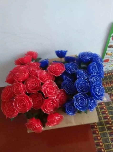 纯手工制作玫瑰花,百合花