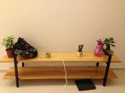 北欧实木电视柜简易电视桌简约现代欧式复古铁艺电视