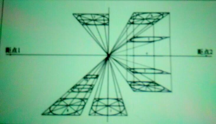 圆两点透视画法