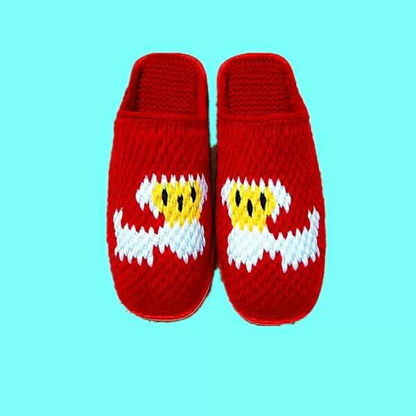 毛线拖鞋好看吗?整个冬天都暖暖的