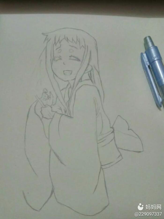 用铅笔画一副线稿