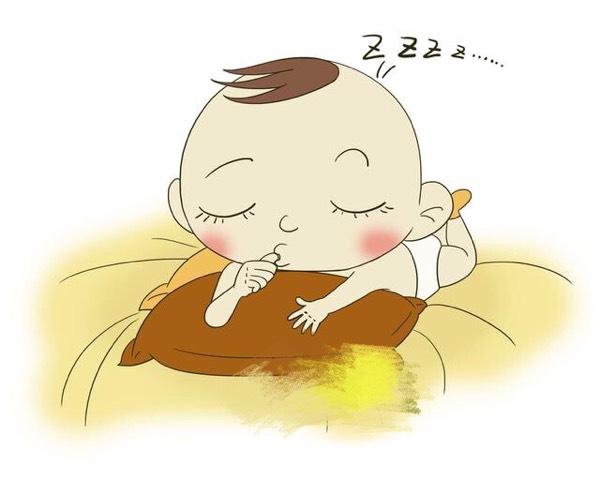 婴儿睡姿简笔画