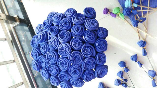 海绵纸玫瑰花