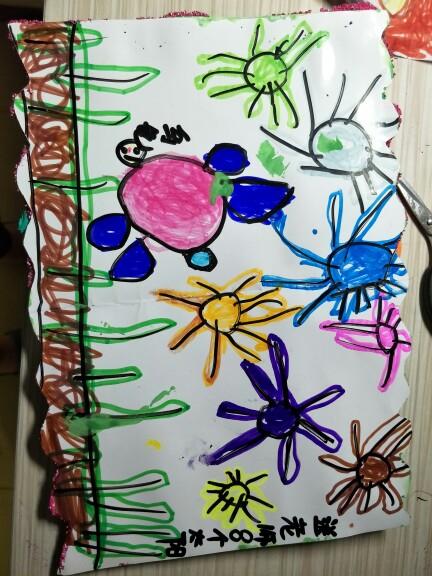 儿子给老师做的贺卡_幼儿园宝宝圈