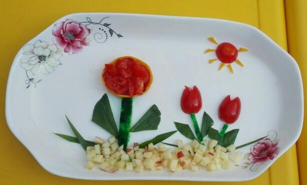 圣诞节水果拼果盘-童趣DIY水果拼盘