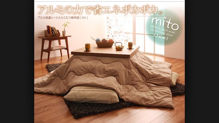 带被子的茶几~日本人冬天取暖的神器
