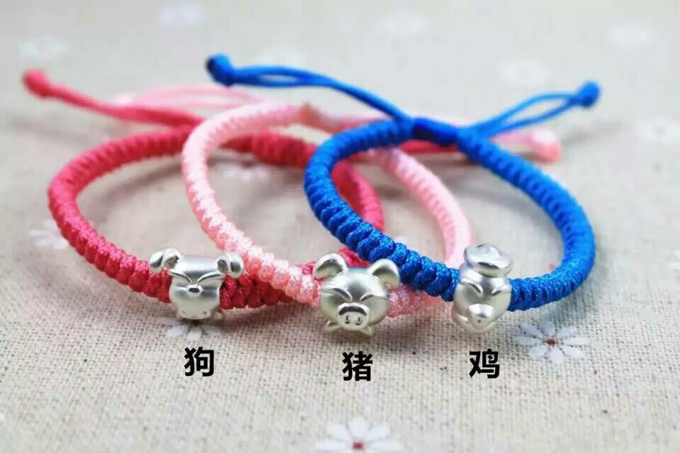 生生款生肖编绳蛇结手链,六种颜色可选,手围接