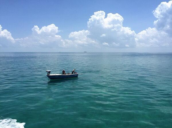 加勒比海 keywest 游轮初体验,这海水蓝得像碧