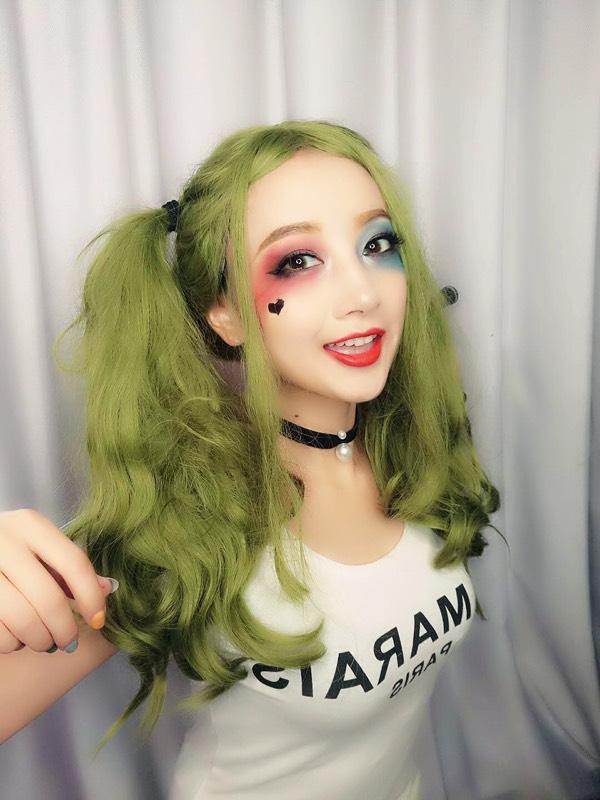 【薇薇】小丑女哈莉仿妆,万圣节就这样吧