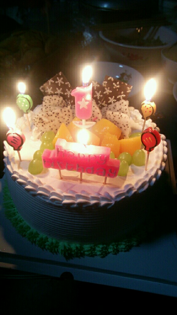 生日蛋糕 口福/我姑娘的一岁生日蛋糕
