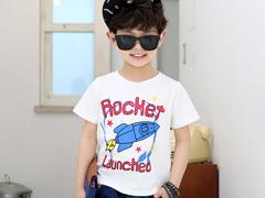 米妮哈鲁男童韩版印花图案套头短袖T恤(110/120cm,请在邮寄地址注明兑换的码数)